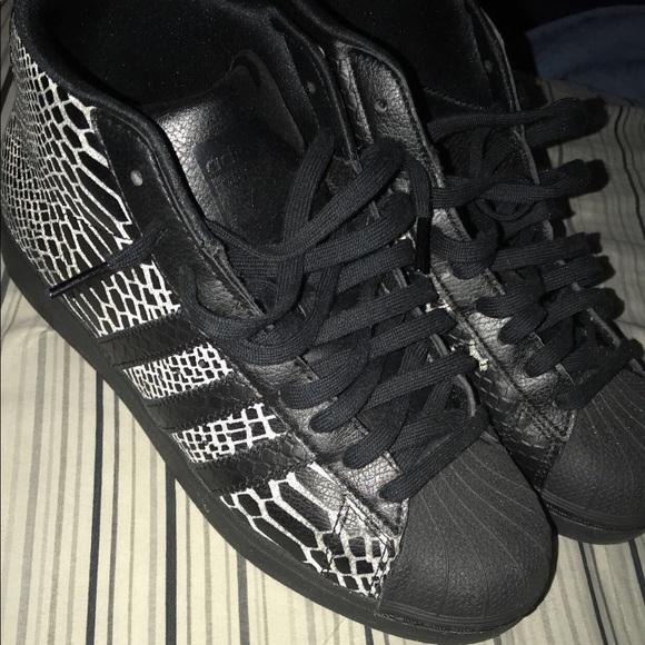 Reflective Snakeskin Adidas Superstar
